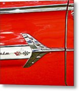 Chevrolet Impala Classic In Red Metal Print