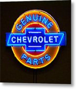 Chevrolet Neon Sign Metal Print