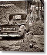 Chevrolet Pickup - Sepia Metal Print
