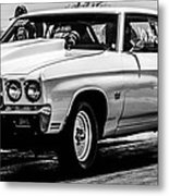 Chevy Chevrolet Chevelle Ss Burning Rubber Metal Print