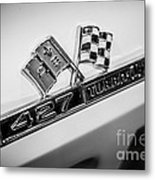 Chevy Corvette 427 Turbo-jet Emblem Metal Print by Paul Velgos