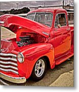 Chevy Hot Red Metal Print