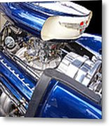 Chevy Hot Rod Engine Metal Print