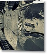 Arroyo Seco Chevy In Silver Metal Print