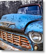 Chevy In The Woods Metal Print by Debra and Dave Vanderlaan