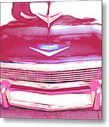 Chevy - Red Metal Print