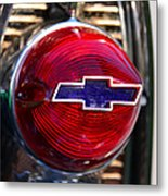 Chevy Red White And Blue Metal Print