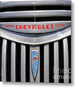 Chevy Truck Grill Metal Print