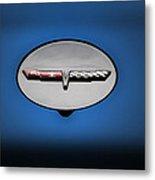 Chevy Vet Gas Cap Emblem Metal Print