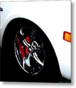 Chevy Wheel Metal Print