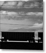 Cheyenne Wy Train Yard Dec 2014 Metal Print
