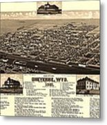 Cheyenne Wyoming - Birds Eye Metal Print