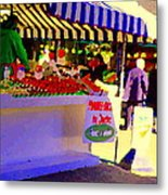 Chez Nino At Marche Jean Talon Montreal A Taste Of Culinary Culture  Food Art Scenes Carole Spandau  Metal Print