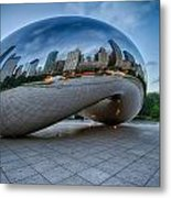 Chicago - Cloudgate Reflections Metal Print