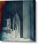 Chicago 4 Tall Shoulders Textured Metal Print