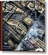 Chicago A View From The Top Of Sears Willis Tower Hdr Triptych 3 Panel Metal Print