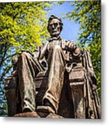 Chicago Abraham Lincoln Sitting Statue Metal Print