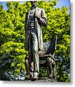 Chicago Abraham Lincoln The Man Standing Statue  Metal Print