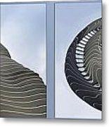 Chicago Abstract Before And After Radisson Blu Hotel 2 Panel Metal Print