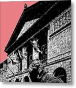 Chicago Art Institute Of Chicago - Light Red Metal Print