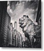 Art Institute of Chicago Lion Picture Metal Print