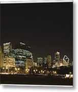 Chicago Bears-chicago Skyline Metal Print
