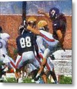 Chicago Bears P Patrick O'donnell Training Camp 2014 Photo Art 02 Metal Print
