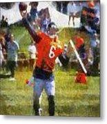 Chicago Bears Qb Jay Cutler Training Camp 2014 04 Photo Art 02 Metal Print