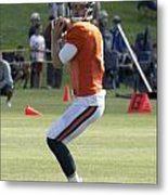 Chicago Bears Qb Jimmy Clausen Training Camp 2014 03 Metal Print