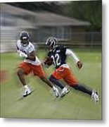 Chicago Bears Rb Michael Ford Moving The Ball Training Camp 2014 Metal Print