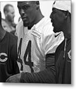 Chicago Bears S Adrian Wilson Training Camp 2014 Bw Metal Print
