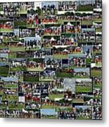 Chicago Bears Training Camp 2014 Collage The Players Metal Print