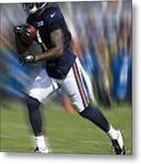 Chicago Bears Training Camp 2014 Moving The Ball 03 Metal Print