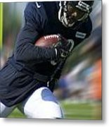 Chicago Bears Training Camp 2014 Moving The Ball 09 Metal Print