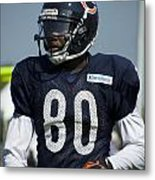 Chicago Bears Wr Armanti Edwards Training Camp 2014 01 Metal Print