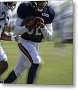 Chicago Bears Wr Chris Williams Moving The Ball Training Camp 2014 Metal Print