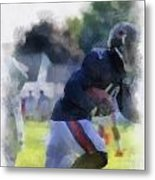 Chicago Bears Wr Micheal Spurlock Training Camp 2014 04 Pa 01 Metal Print