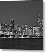 Chicago Black And White Evening Metal Print