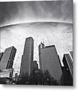 Chicago Black And White Photography Metal Print by Dapixara Art