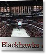 Chicago Blackhawks At Home Panorama Sb Metal Print