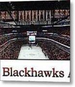Chicago Blackhawks At Home Panorama White Metal Print
