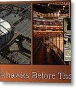 Chicago Blackhawks Before The Gates Open Interior 2 Panel Tan 01 Metal Print