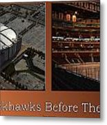 Chicago Blackhawks Before The Gates Open Interior 2 Panel Tan Metal Print