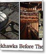 Chicago Blackhawks Before The Gates Open Interior 2 Panel White 02 Metal Print