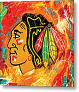 Chicago Blackhawks logo Metal Print