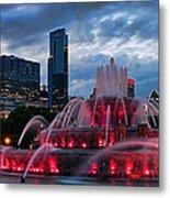 Chicago Blackhawks Skyline Metal Print by Jeff Lewis
