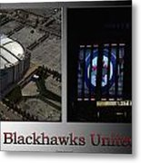 Chicago Blackhawks United Center 2 Panel Sb Metal Print