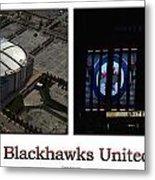 Chicago Blackhawks United Center 2 Panel White Signage Metal Print