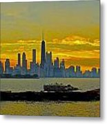Chicago Breakwater Metal Print
