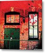 Chicago Brick Facade 21st. Century Metal Print